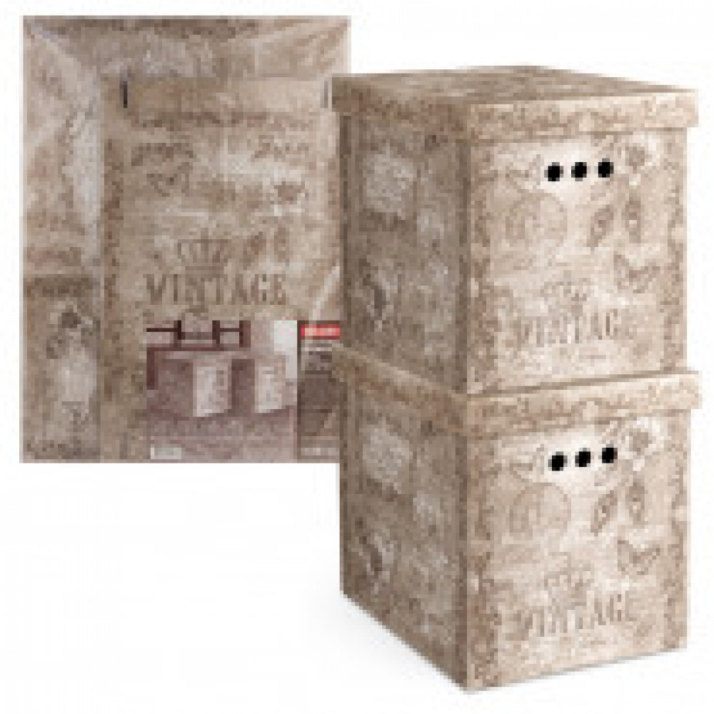 Мебель для дома VAL VINTAGE Короб картонный,скл,бол,набор2 шт,VN-BCTN-2M