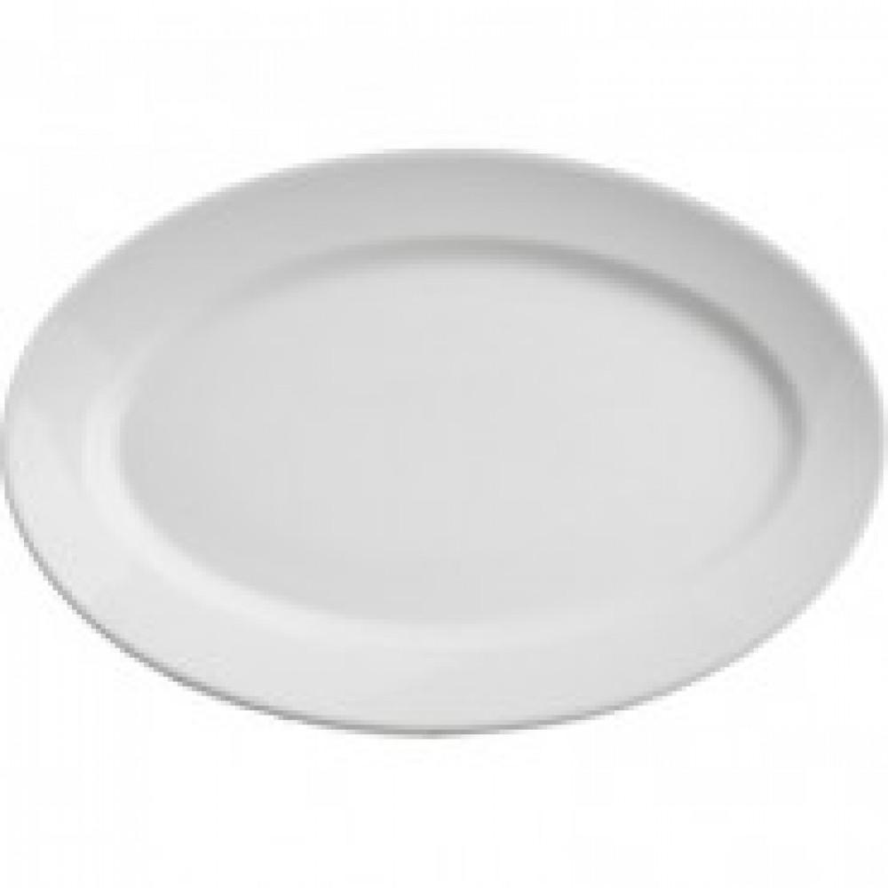 Блюдо овальное, фарфор l=240 мм./ИБД 03.240