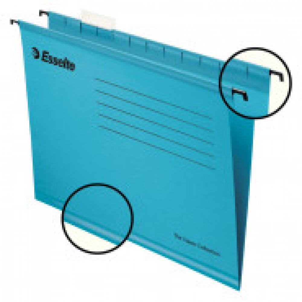 Подвесная регистратура папки Esselte Plus Foolscap, синий 90334 25шт