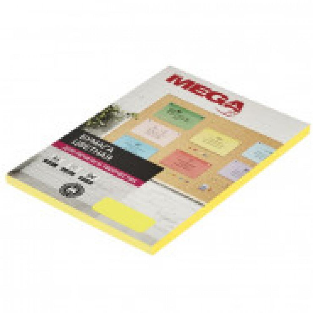 Бумага цветная ProMEGA Jet (А4,75г,желтый неон) пачка 100л