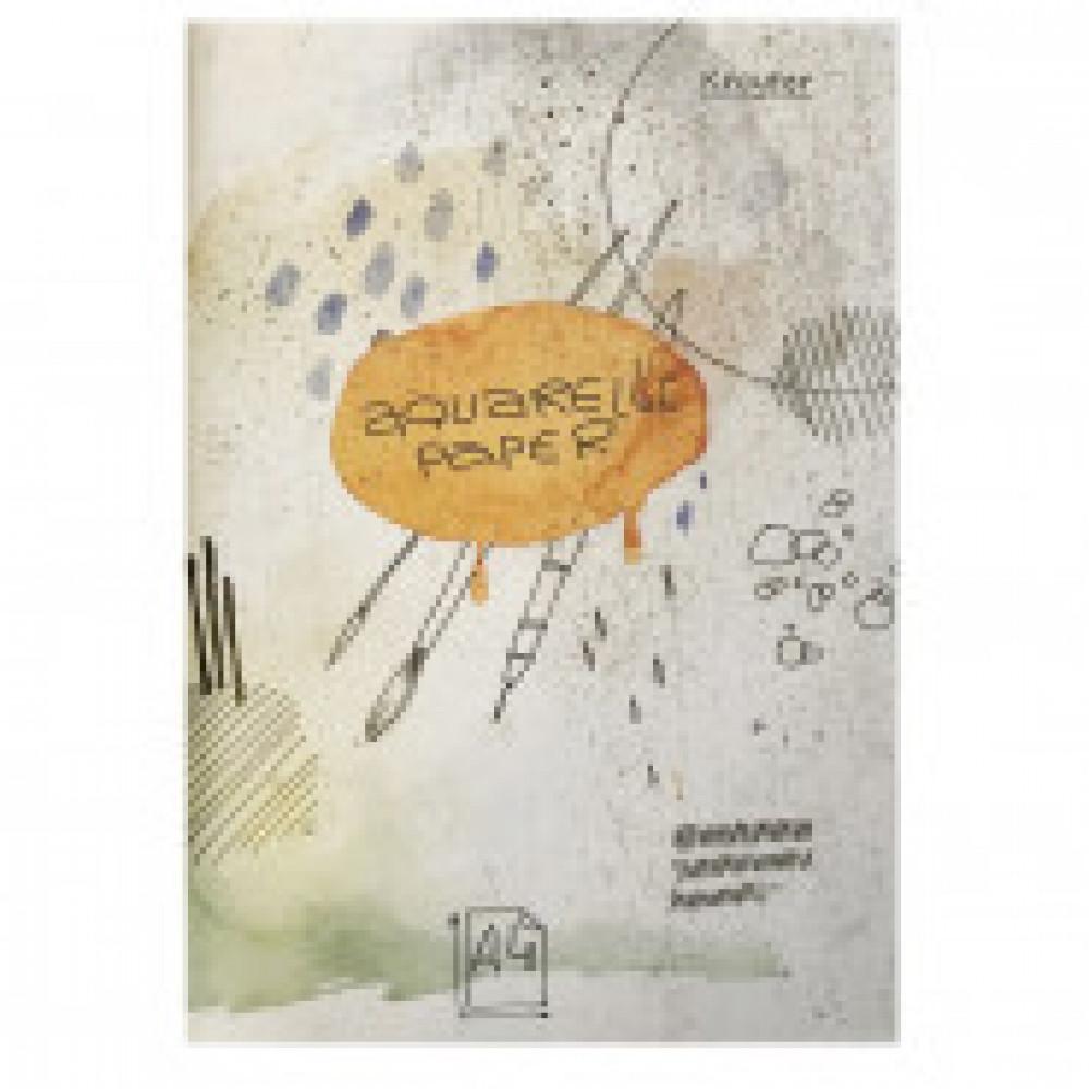 Папка для рисования акварелью А4,20л,180гр/м2 Kroyter Акварель 08221