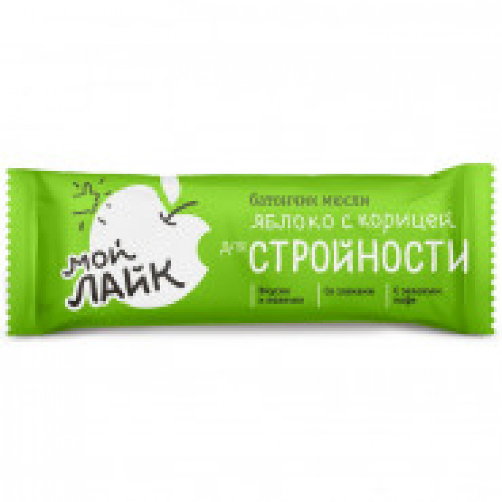 Батончик мюсли Леовит Яблоко с корицей 25 г (30 штук в упаковке)