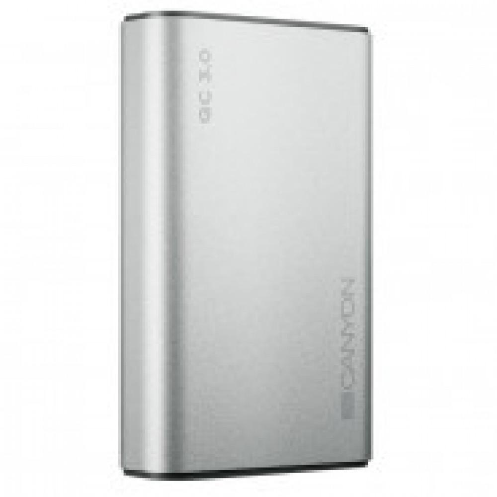 Внешний аккумулятор 10000 mAh, Li-Pol, 2xUSB, QC 3.0, Canyon,CND-TPBQC10S
