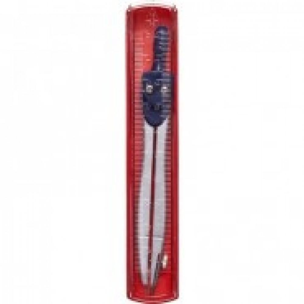 Циркуль Attache длина 115 мм, в комплекте с линейкой, пластиковый пенал
