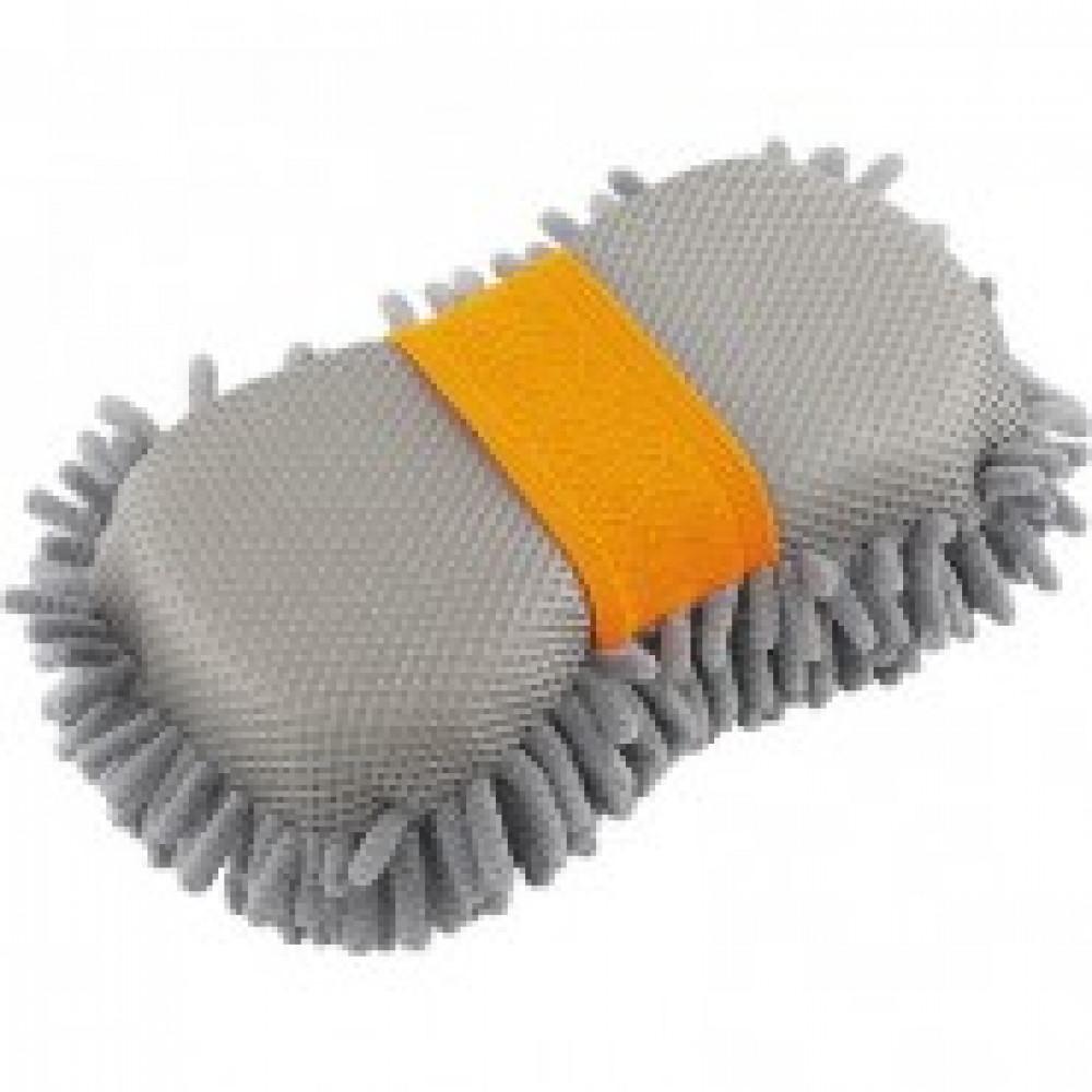 Губка для мытья автомобиля с сеткой STELS (55213)