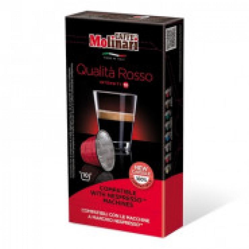 Капсулы для кофемашин Molinari Rosso, 10 капсул