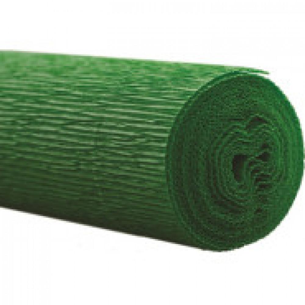 Бумага для творчества крепир.флорист. 50x250см,128г/м2,зеленая,170522