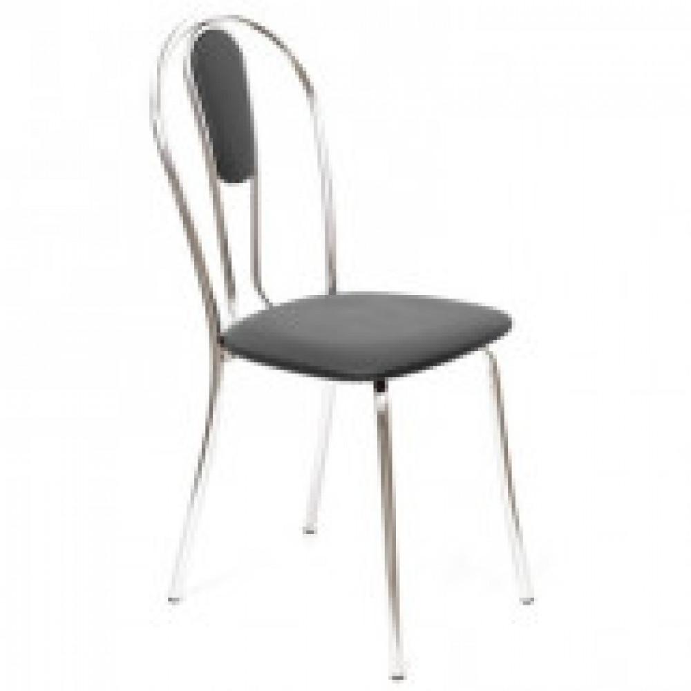 Стул для столовых UP_Венус М каркас хром, к/з черный Z11