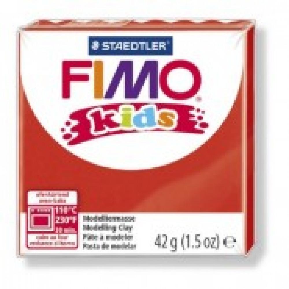 Глина полимерная красная,42гр,FIMO,kids,8030-2