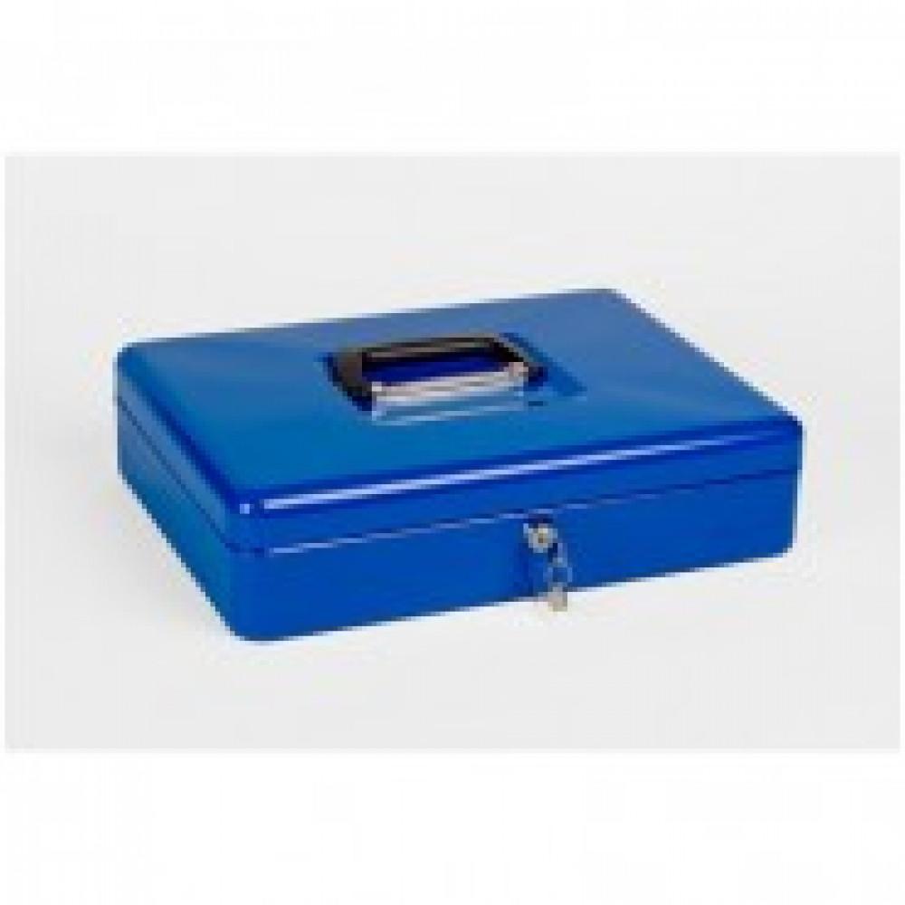 Метал.Мебель Office-Force Кэшбокс10002, ключ,синий,370х280х90