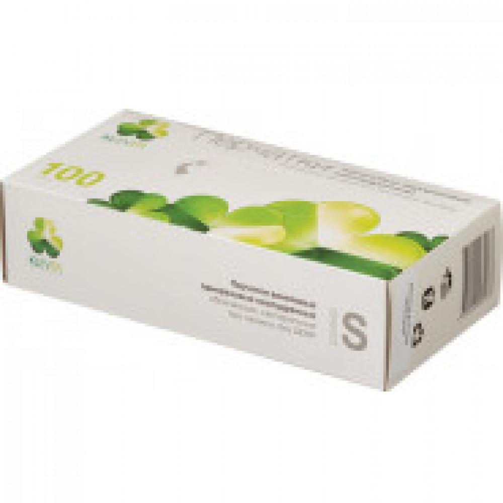 Перчатки медицинские смотровые виниловые KLEVER неопудренные размер S (100 штук в упаковке)