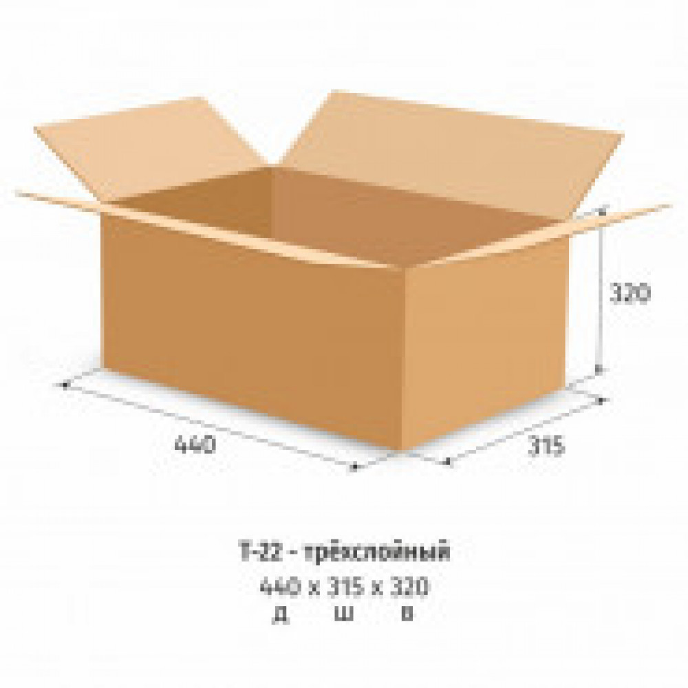 Гофрокороб картонный, 440х315х320, Т-22, 10 шт/уп