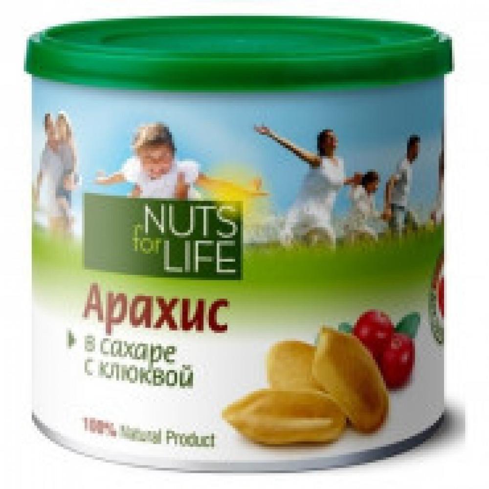 Арахис Nuts for life обжаренный с клюквой, 115 г