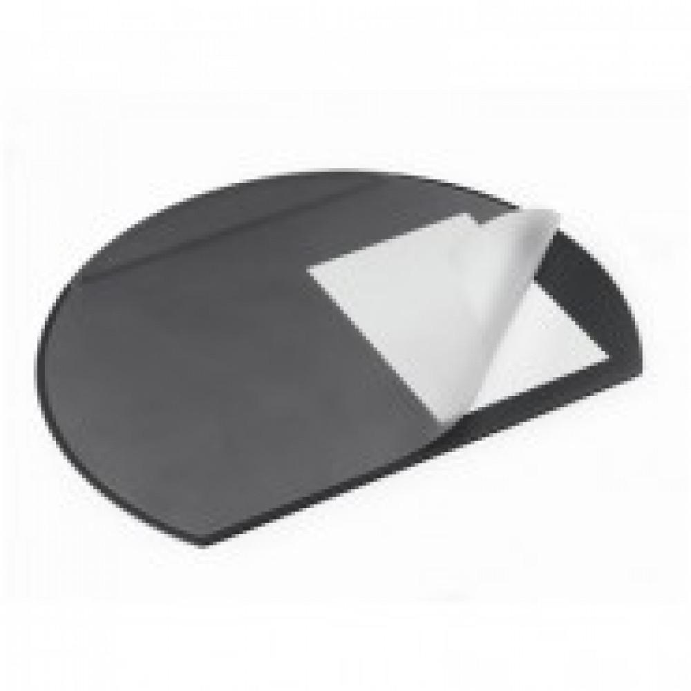 Коврик на стол DURABLE 52х65см черный полукруглый с прозрачным листом 7290