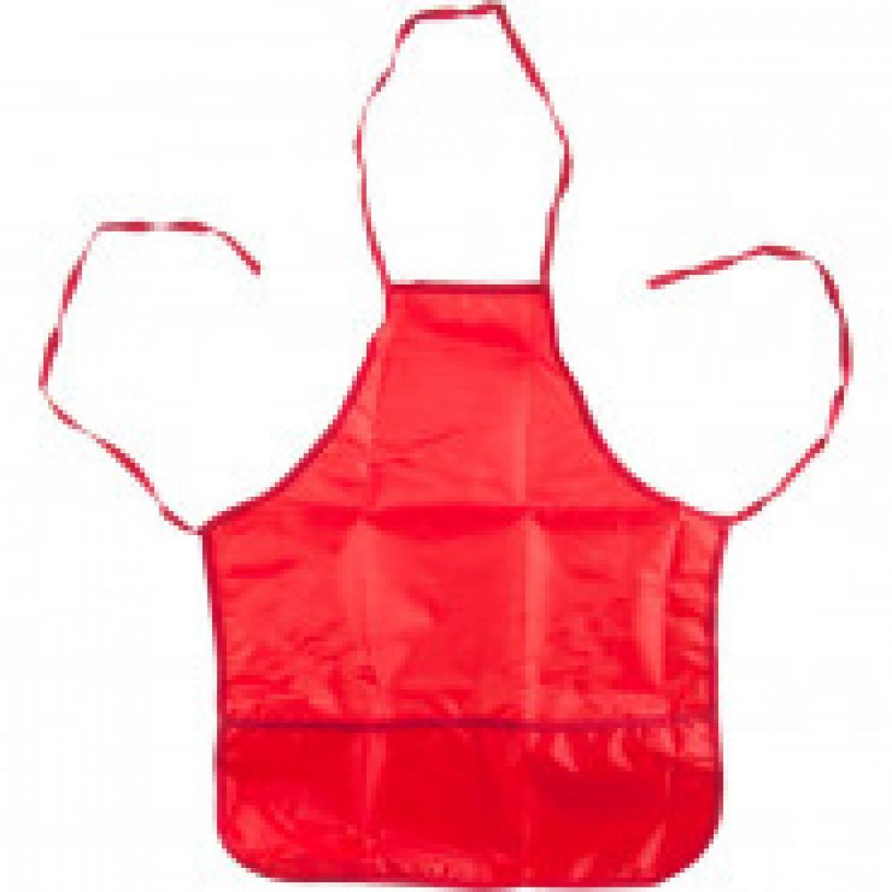 Фартук для труда №1 School красный 44x54 см, 2 кармана