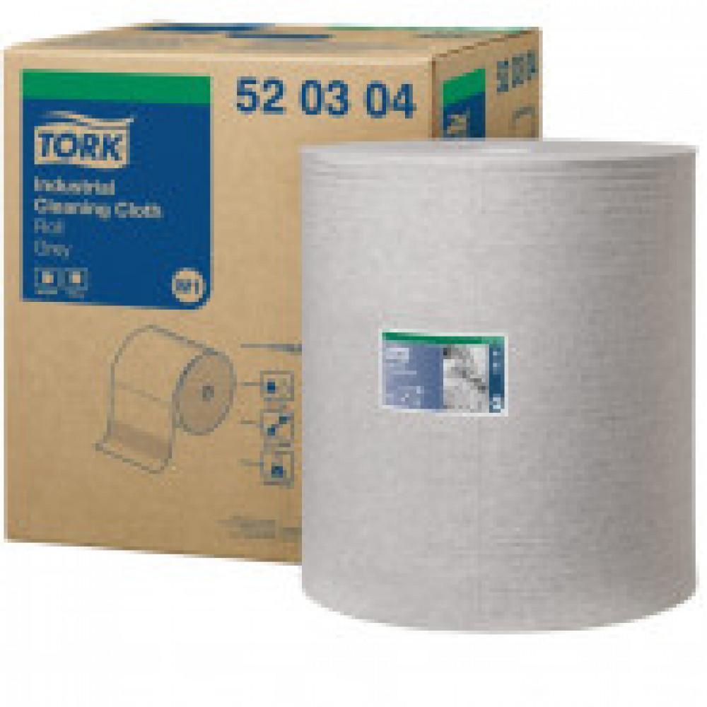 Материал протирочный нетканый Tork W1/W2/W3 950лx1рул/кор, серый 520304
