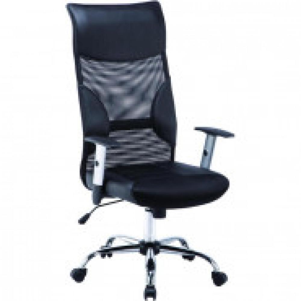Кресло BN_Dt_EСhair-577 TTW кожзам,ткань,сетка черные