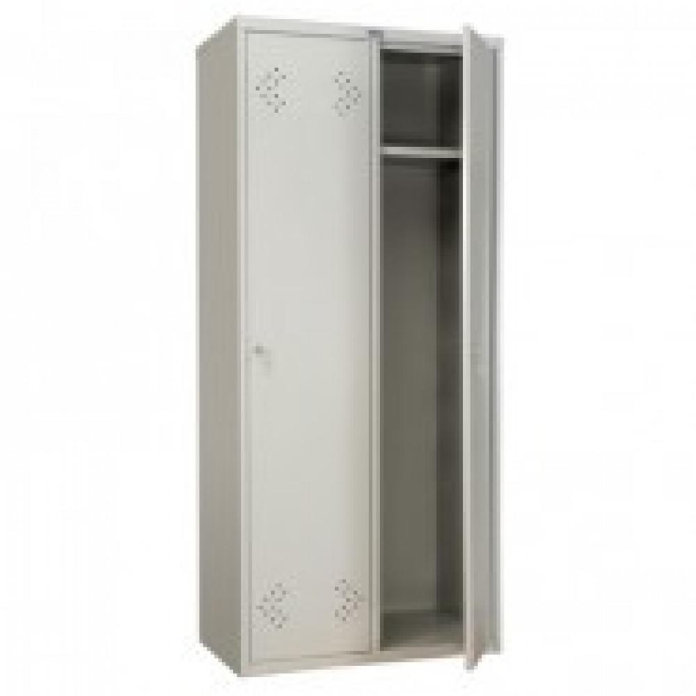 Метал.Мебель ПРАКТИК LS-21-80 шкаф д/одеж 2дв 813х500х18