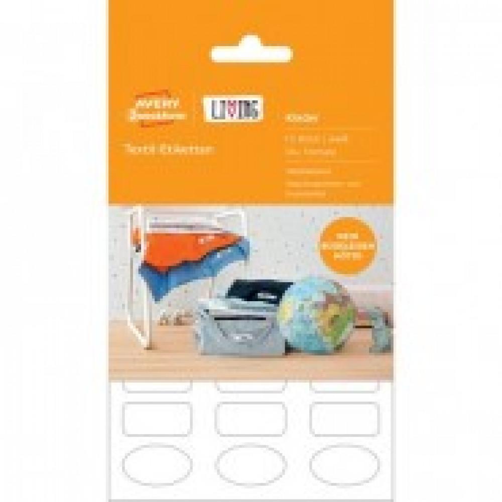 Этикетки самоклеящиеся 62033 Living, для одежды, белые,15этикеток