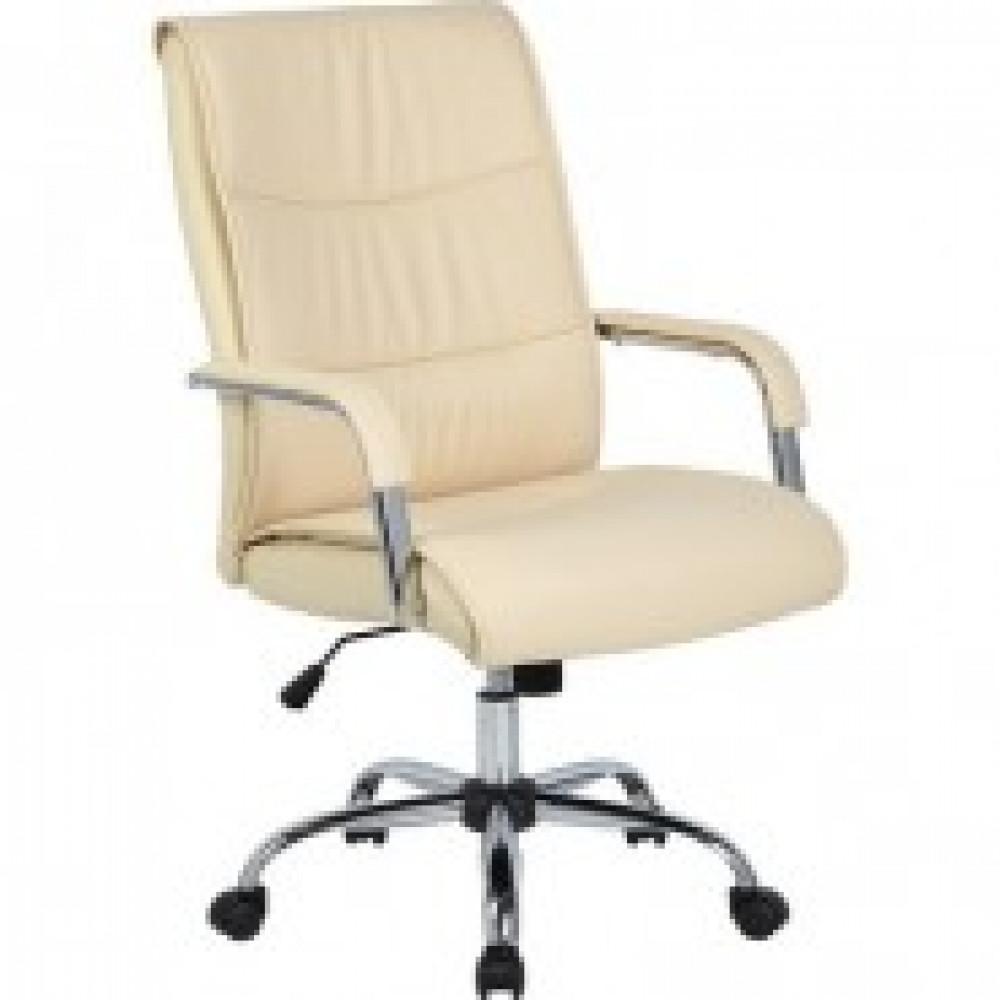 Кресло BN_Dt_Руководителя EChair-509 TPU к/з бежевый, хром