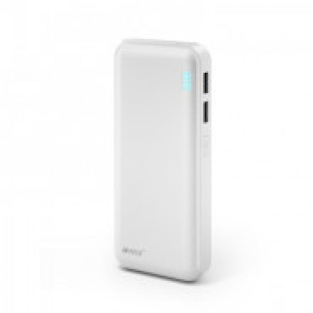 Внешний аккумулятор 12500 mAh, Li-Ion, 2xUSB, 2.1A+1A, Hiper, белы,SP12500