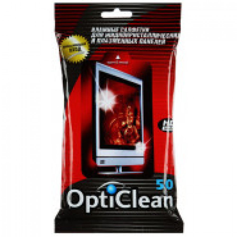Салфетки Opti Clean №50 для ЖК и плазм TV