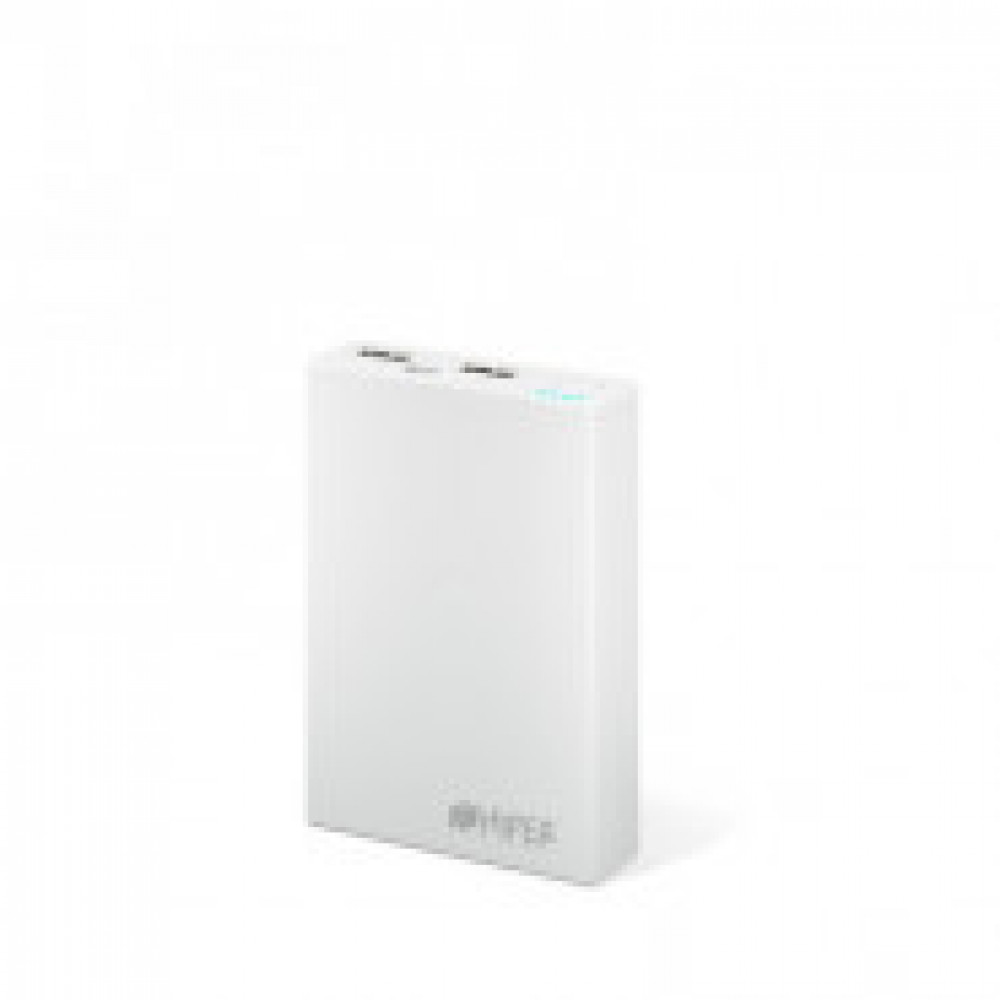 Внешний аккумулятор 10000 mAh, Li-Ion, 2xUSB, 2.1A+1A, Hiper, белы,RP10000
