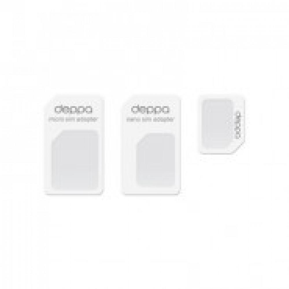 Адаптер SIM-карт для мобильных устройств, Deppa(74000)