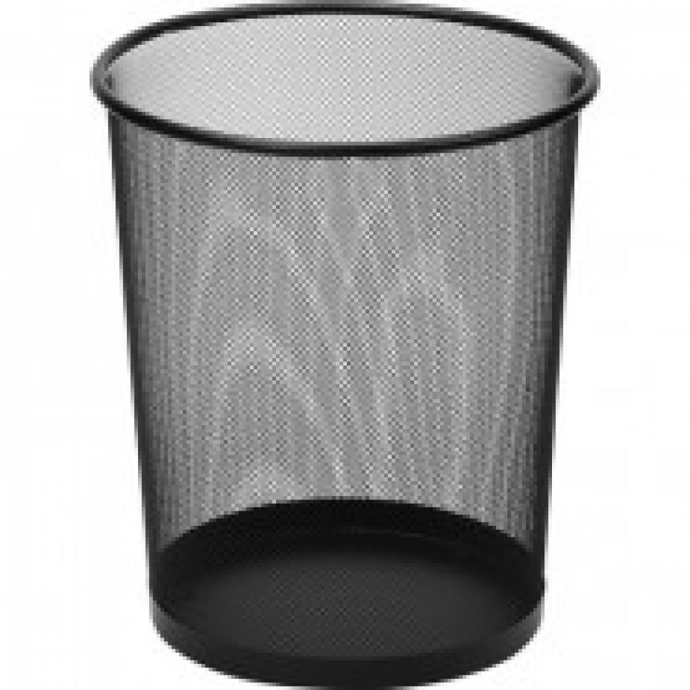 Корзина круглая, метал. сетка,d295х350мм, 17л.(черная)