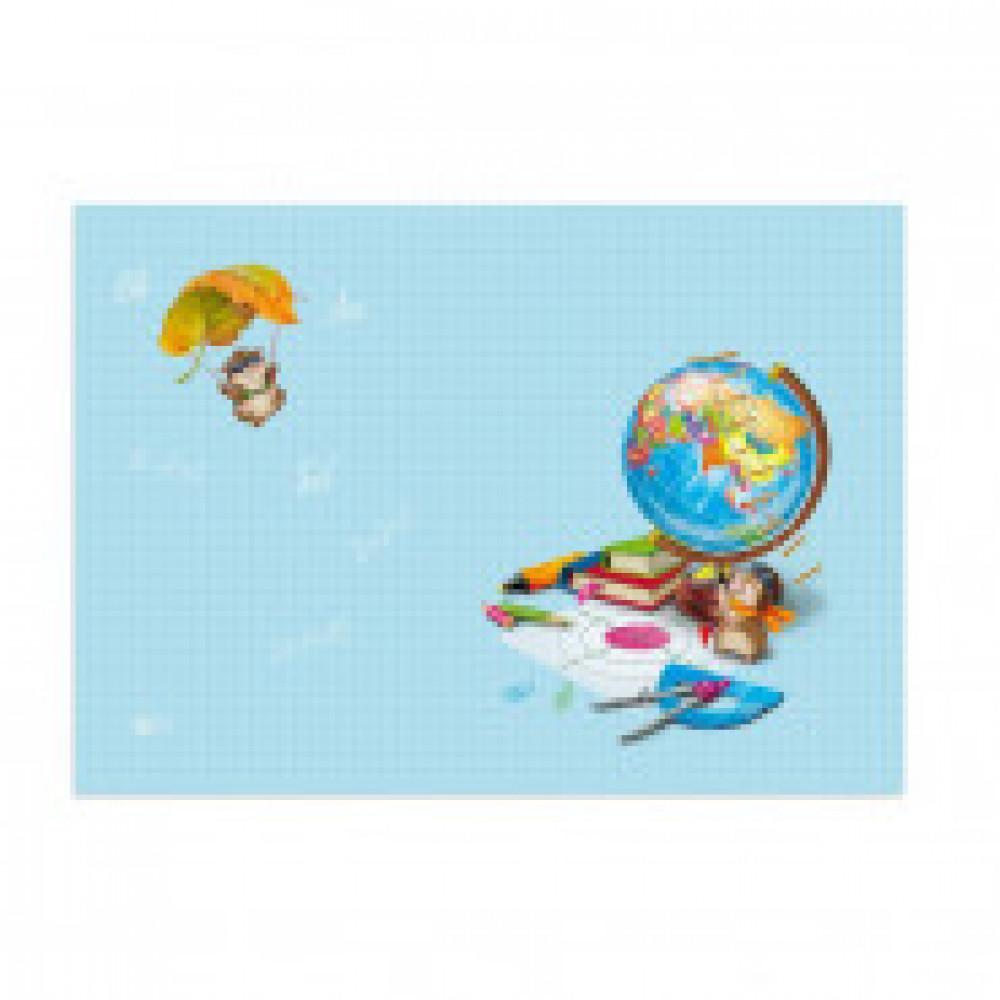 Пленка для уроков труда Глобус  ПВХ, 50x70 см, плотность 140 мкм, арт.48316