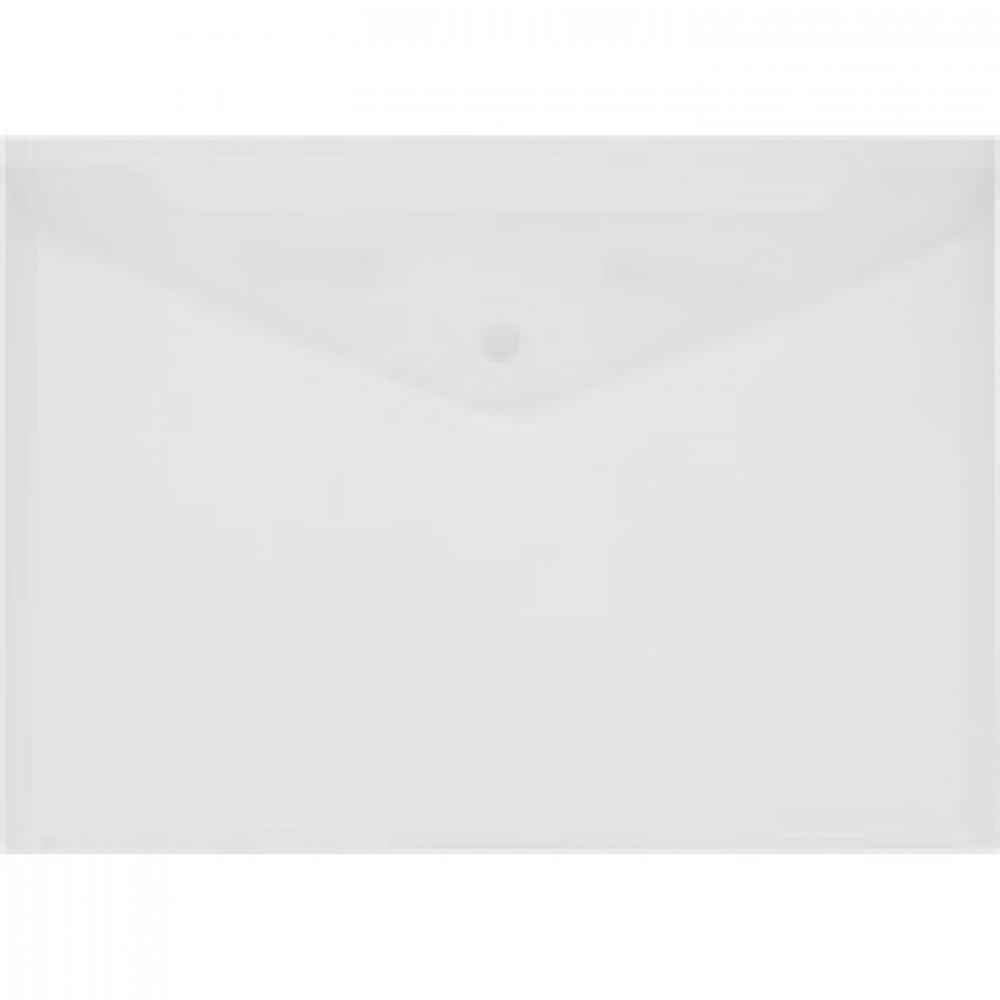 Папка-конверт на кнопке Attache 330x240 мм матовая прозрачная 180 мкм (10 штук в упаковке)