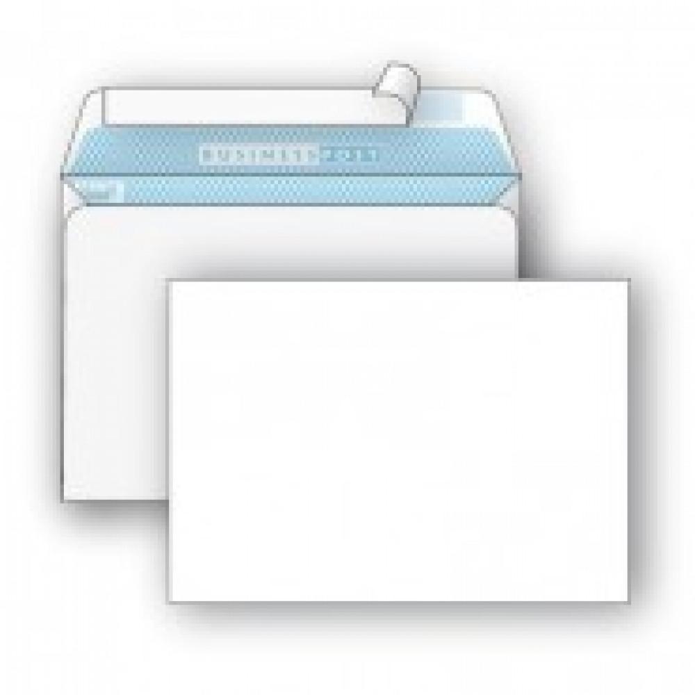 Конверт BusinessPost С6 90 г/кв.м белый стрип с внутренней запечаткой (1000 штук в упаковке)