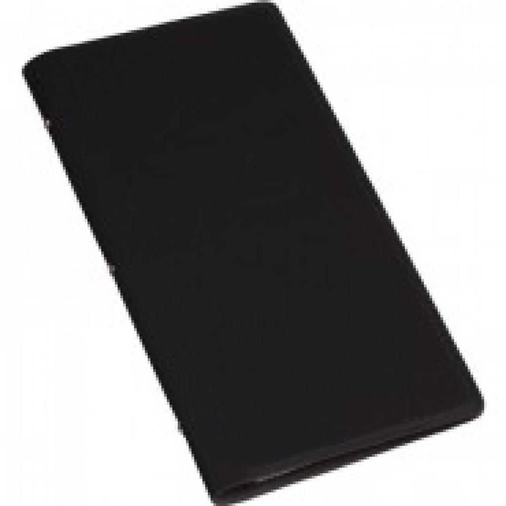 Визитница настольная , 4 кармана, на128 визиток, PU, черный