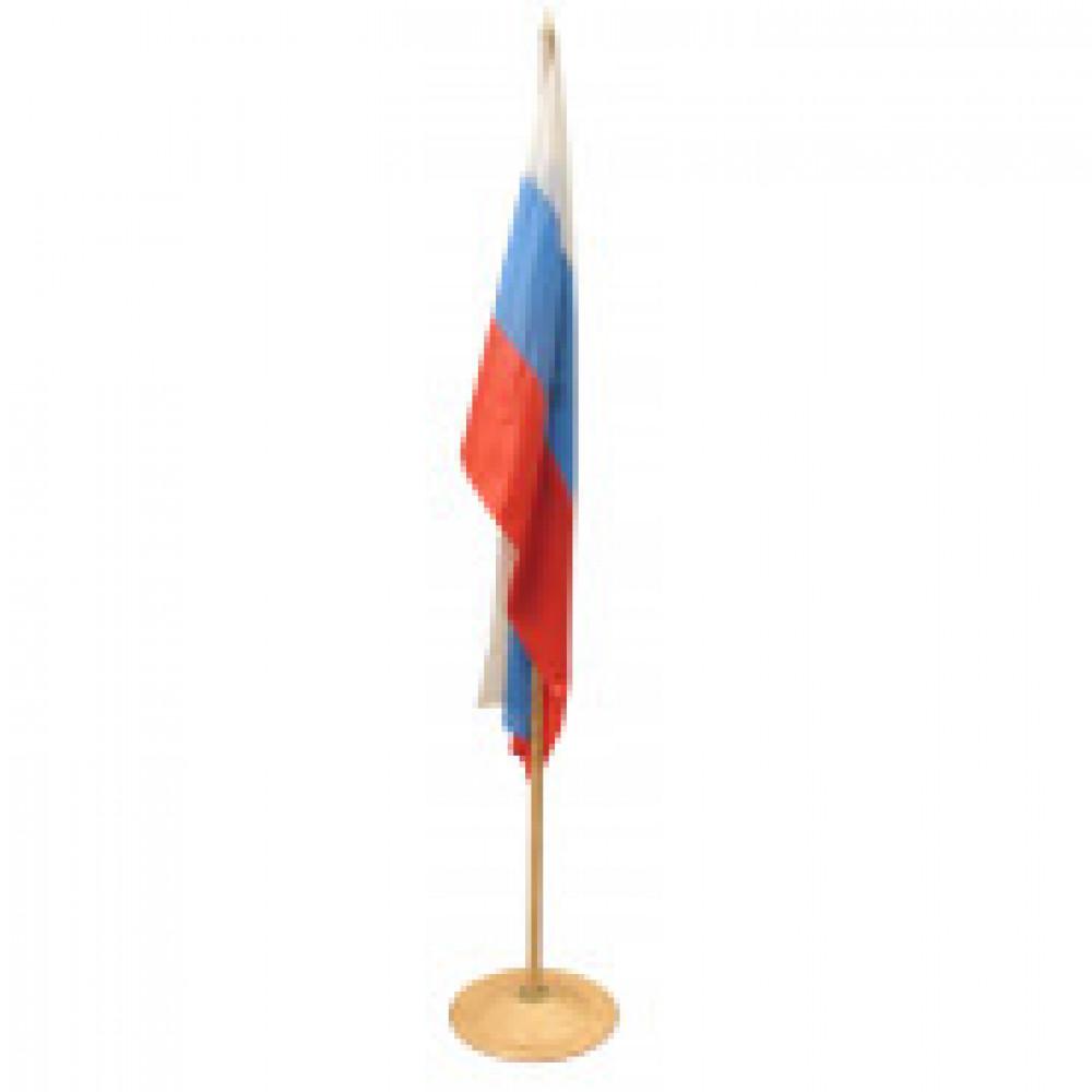 Флаг TI_напольный России, текстура дерева, бук