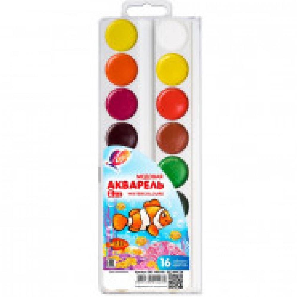 Акварельные краски Луч Zoo медовые 16 цветов