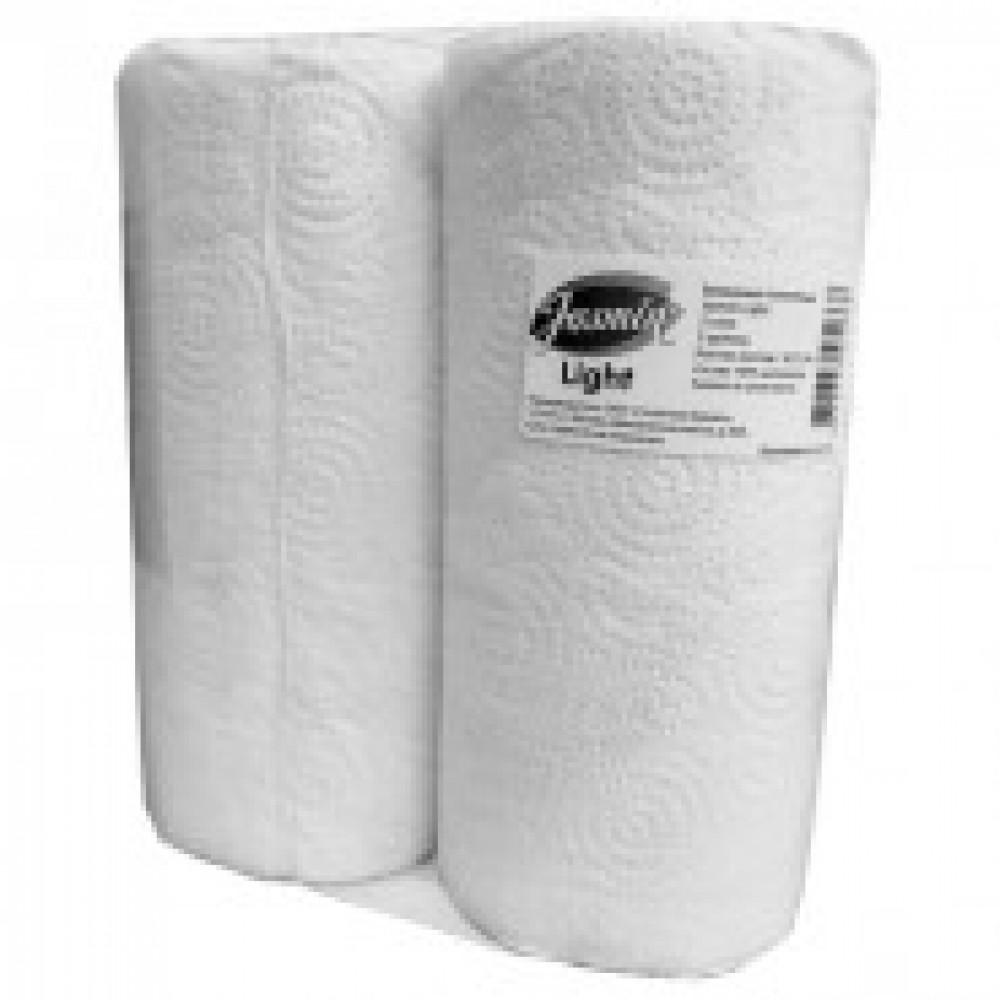 Полотенца бумажные Jasmin Light 2сл бел цел 2рул/уп