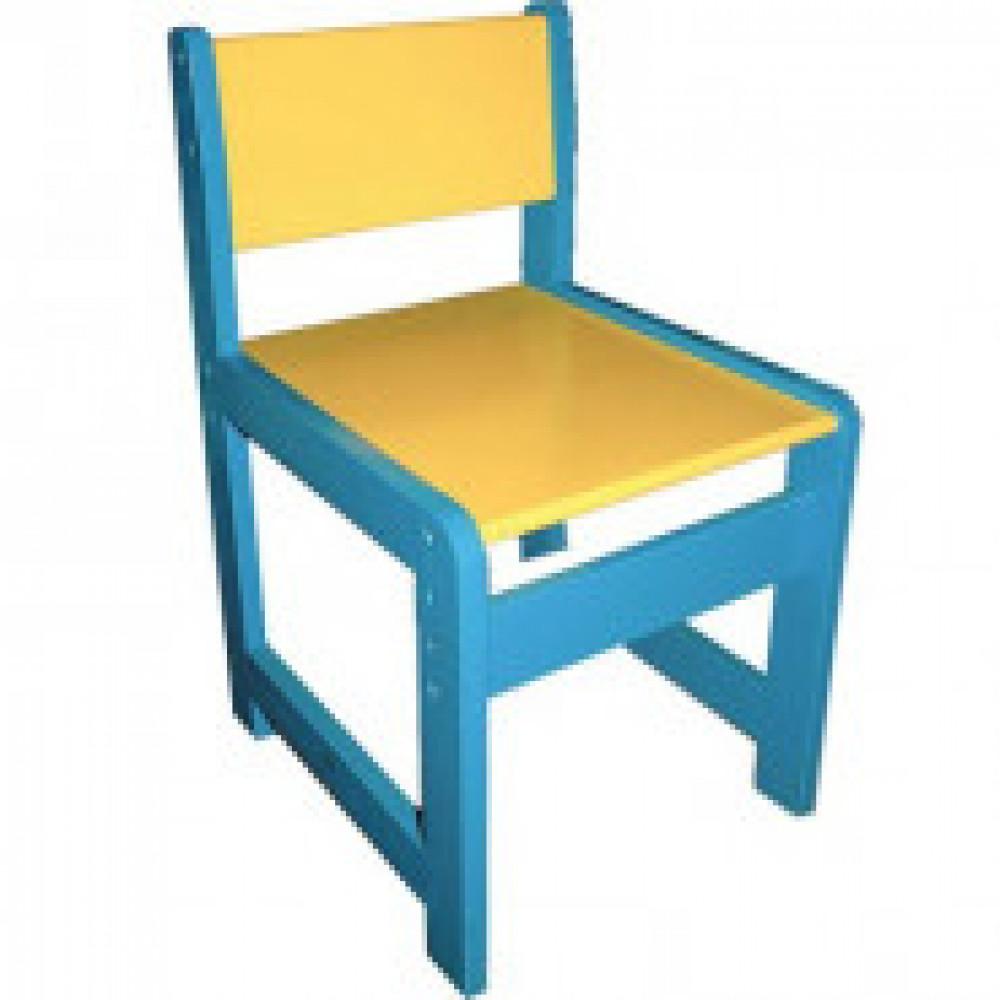 Детская мебель Д_Стул детский 998.002 регулируемый 2-3 голубой/желтый