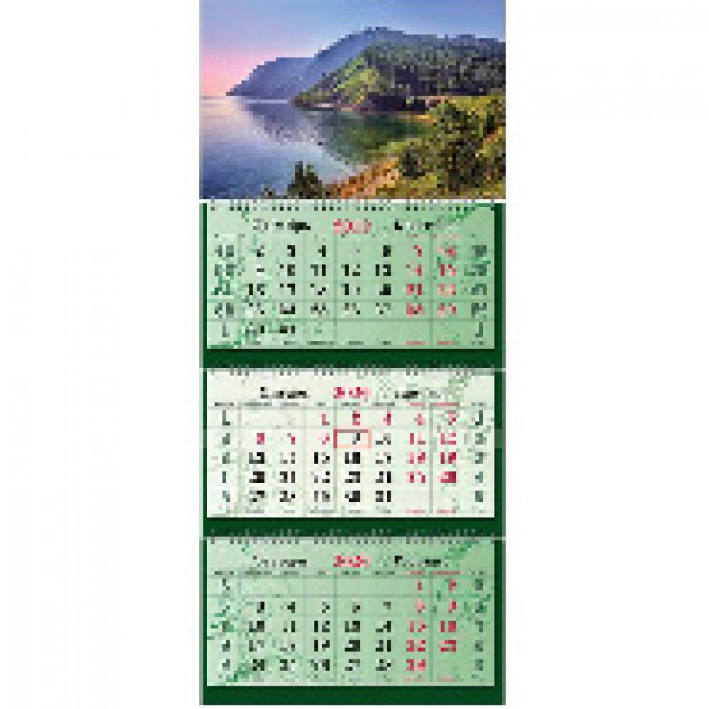 Календарь настен Супер-Премиум,2020,340х805,КрасотаБайкала,3спир,100г/м2