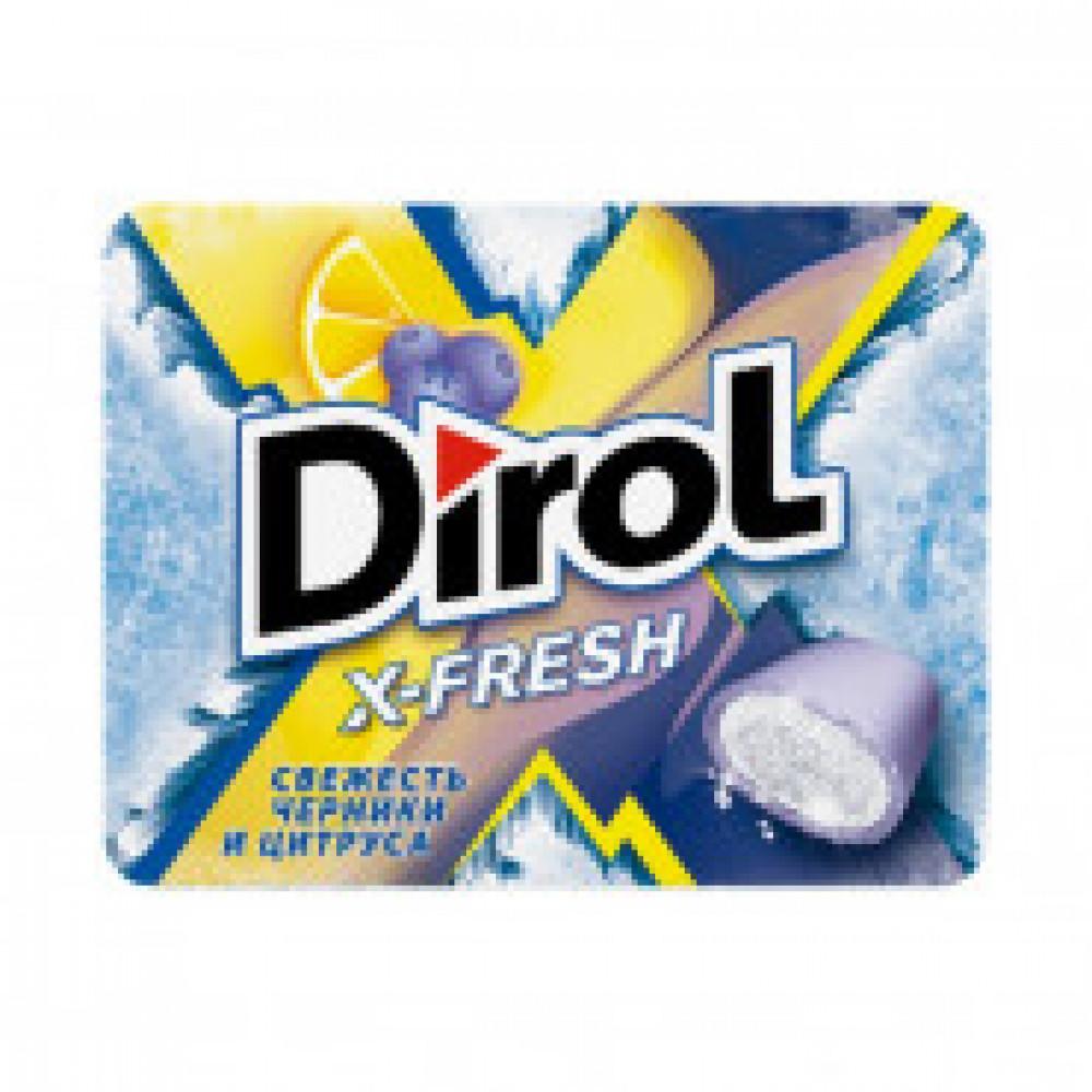Жевательная резинка DIROL X-Fresh черника и цитрус, 12штх16г