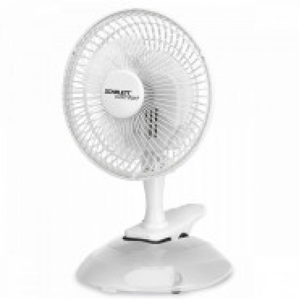 Вентилятор настольный Scarlett SC - DF111S01,Диам 6,25Вт,2скор,подст+прищ