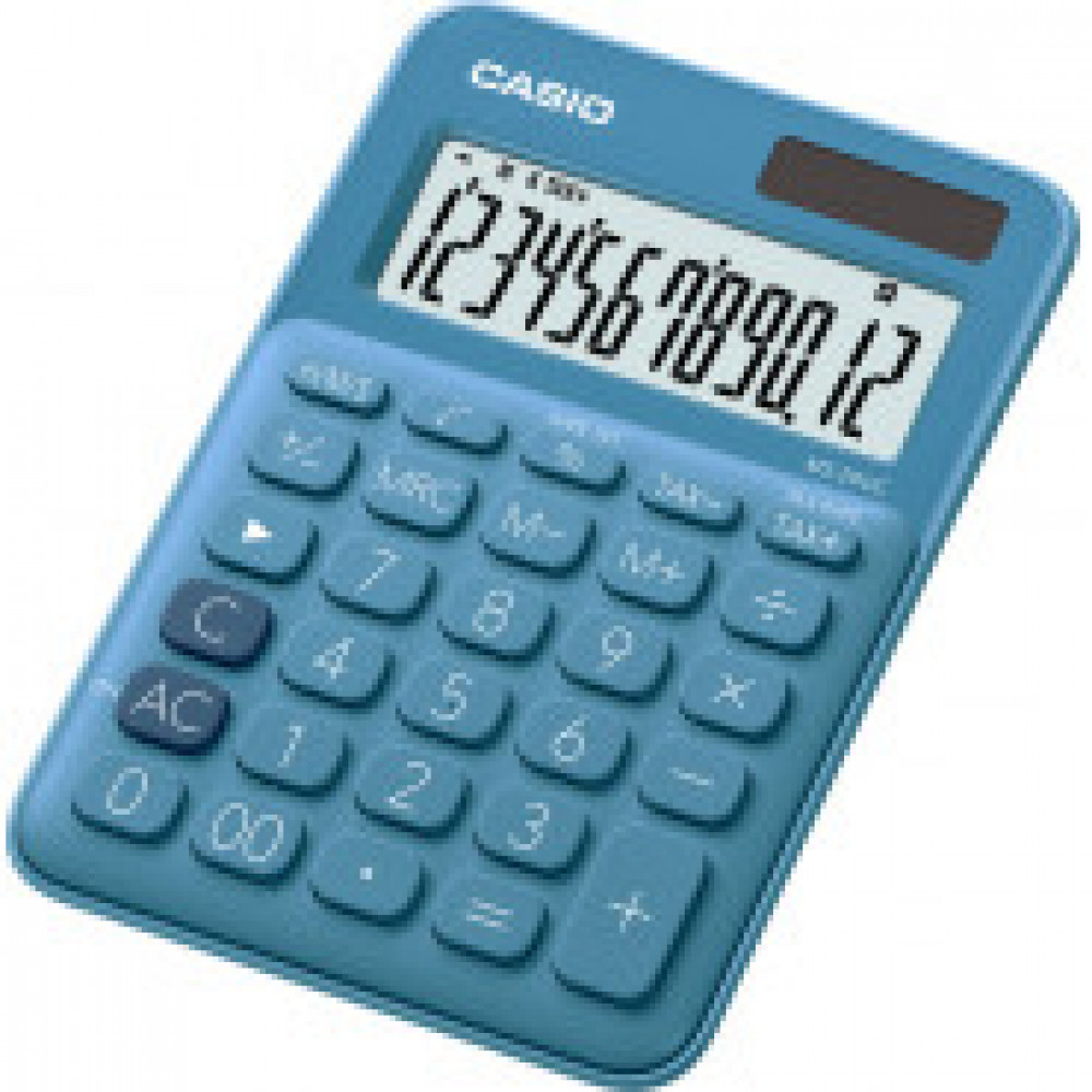 Калькулятор настольный CASIO MS-20UC-BU 12 разрядов, цвет синий