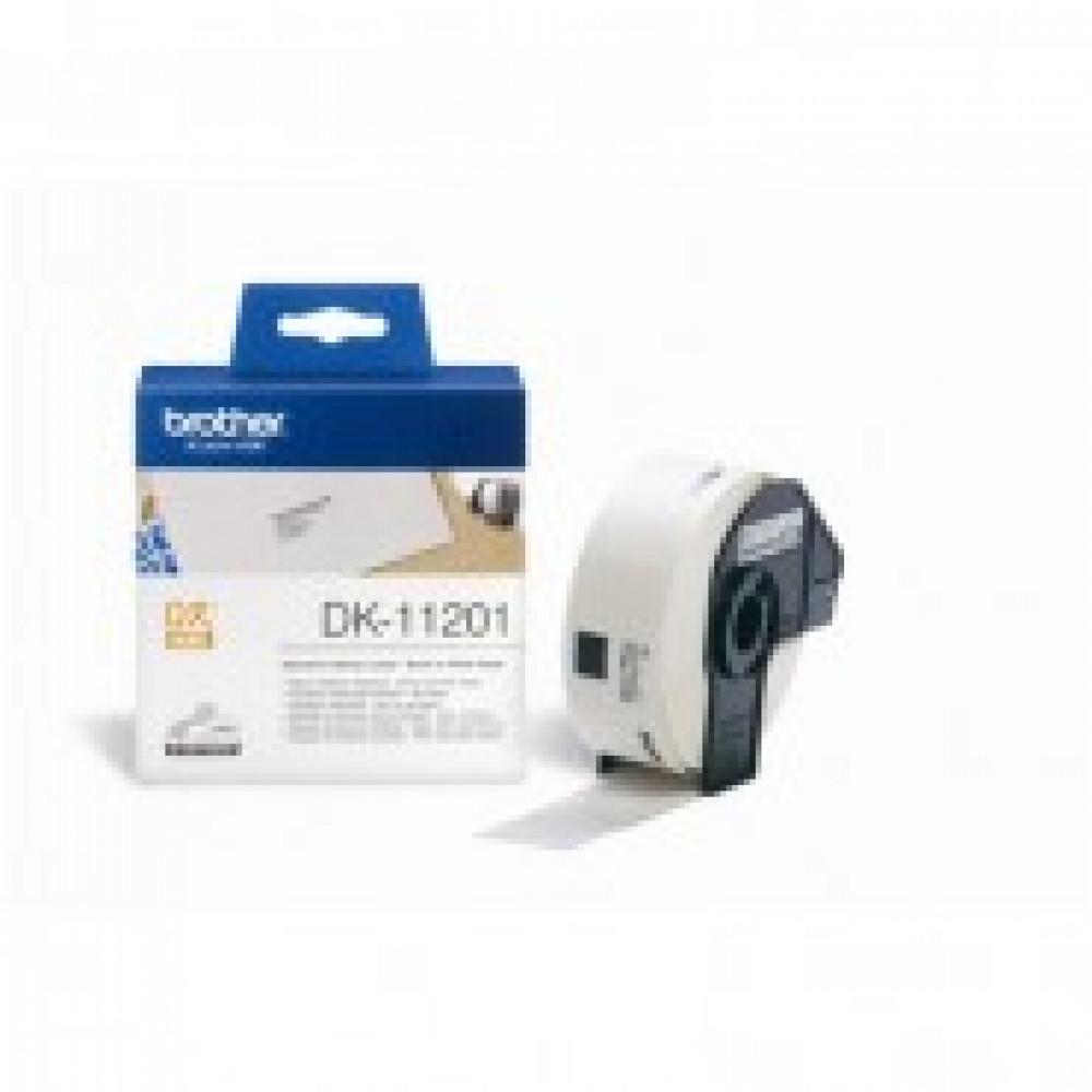Картридж к этикет-принтеру Brother DK11201 29х90мм 400шт адрес для QL