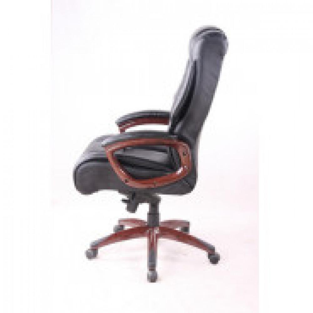 Кресло BN_Dp_Руководителя EChair-636 ML кожа черная