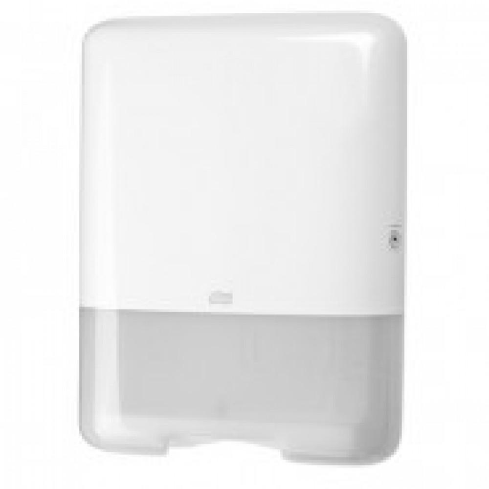 Диспенсер для листовых полотенец Tork Singlefold H3 ZZ/C пластиковый белый (код производителя 553000)