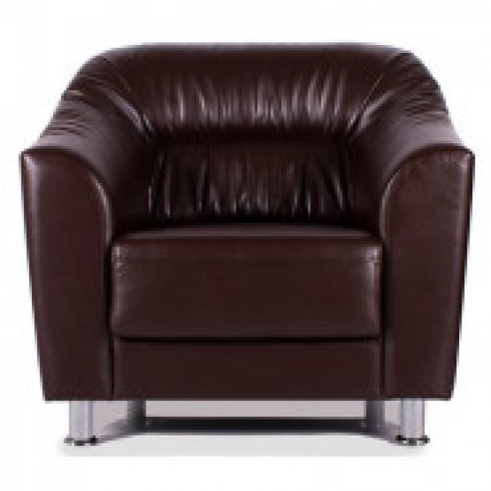 Мягкая мебель EF_Райт кресло, коричн. глян. Ecotex 3069