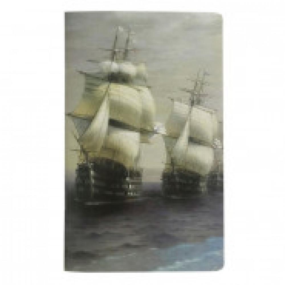Бизнес-тетрадь Art-Blanc Ayvazovsky А6+,40л,108х175мм,клетка,скрепка N1618