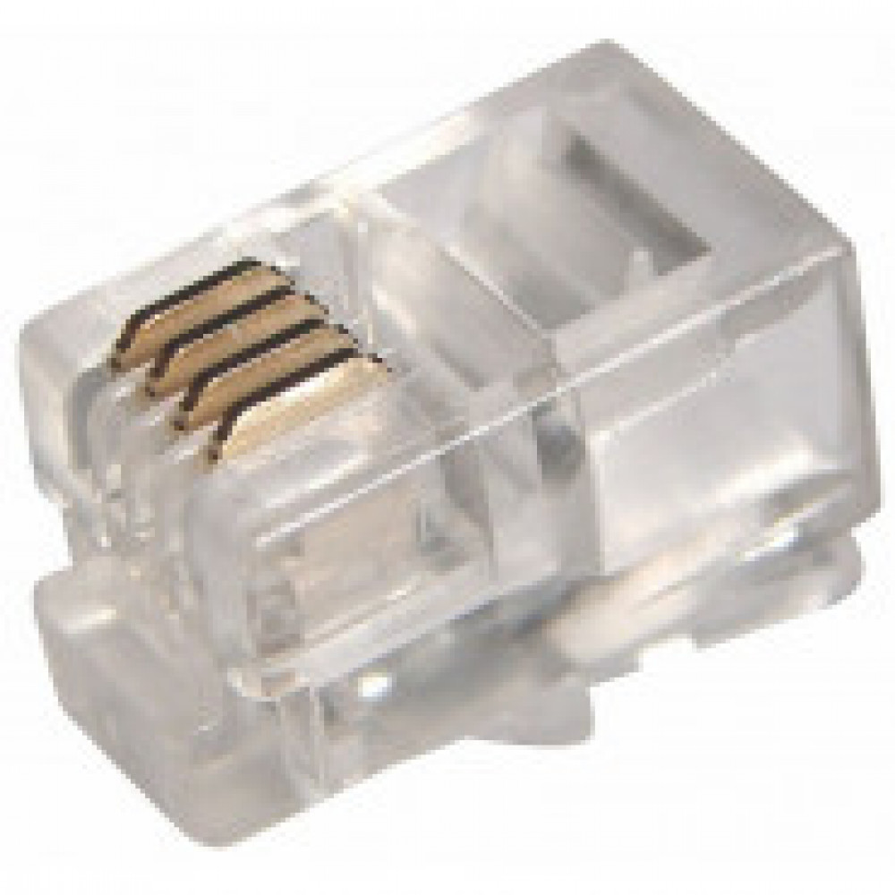 Джек телефонный Rexant 4P4C 100 шт. (05-1001)