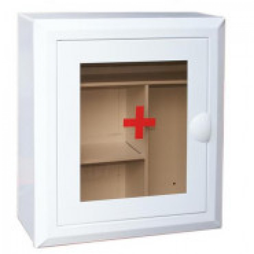 Аптечка металлическая D_ со стекл. дверцей и полкой  350х400х140