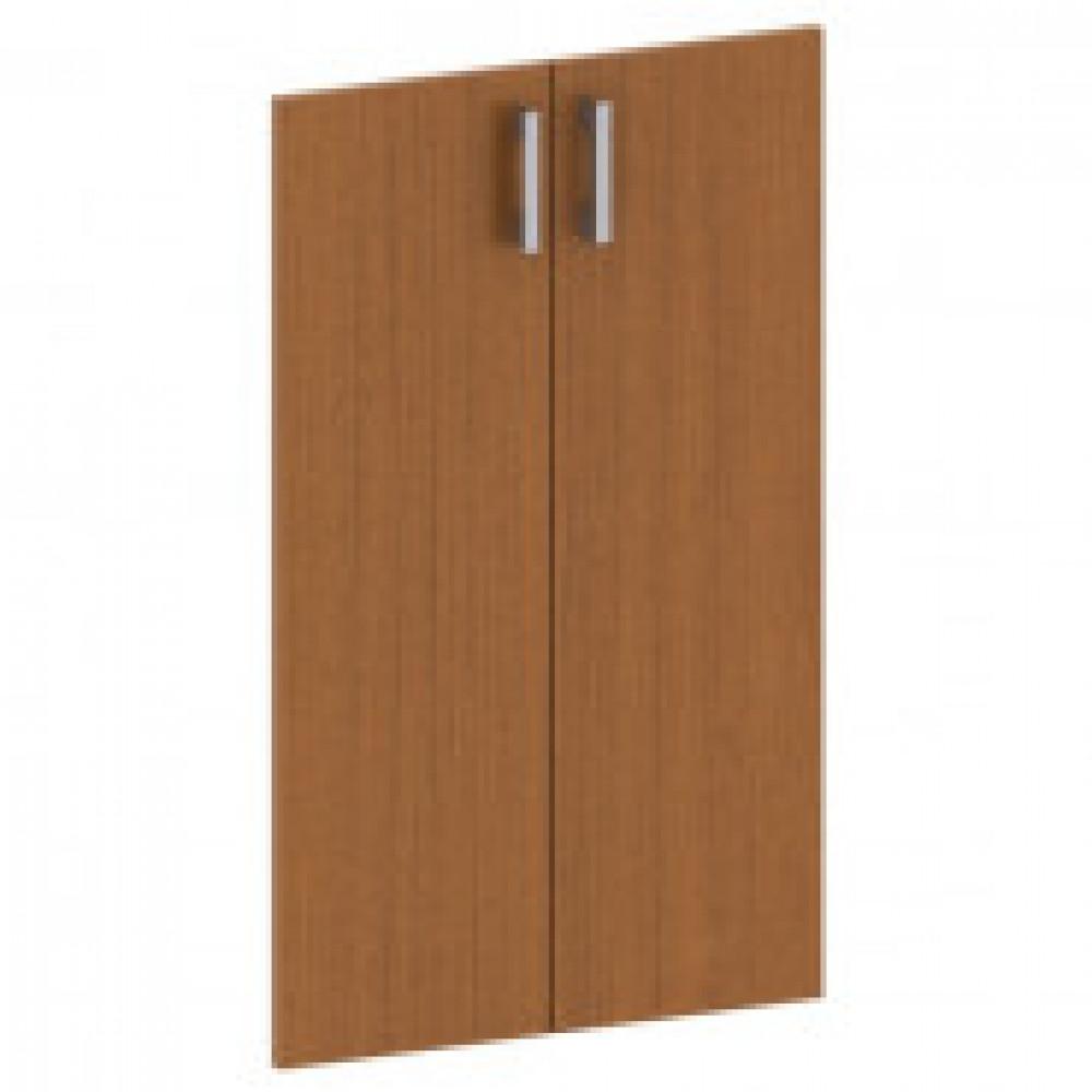 Двери низкие Арго А-602 с фурнитурой (орех, 710х18х760 мм)