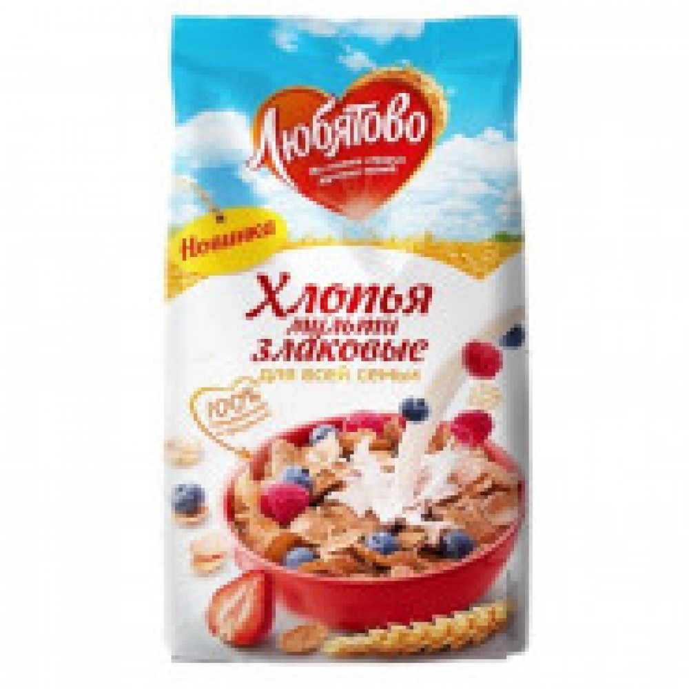 Завтрак хлопья зерновые Любятово мультизлаковые, 250г